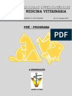 Pré-programa XVI Jornadas Internacionais Med Vet