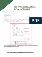 Hemato Tiempo de Tromboplastina pÁrcial Activada