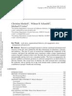 Annual Review Maslach
