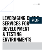 Leveraging Cloud Services for Development & Testing Environments