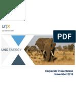 UNX Energy 2011 Corporate Presentation