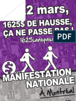 Affiche 4 Manifestation nationale 22 mars 2012