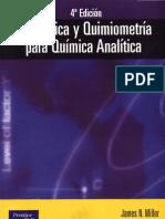 Estadística y Quimiometria Para Quimica Analitica