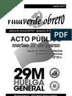 Villaverde Obrero - Número 9 - Marzo 2o12