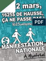 Affiche 2 - Manifestation nationale 22 mars 2012
