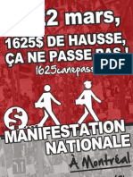 Affiche 1 - Manifestation nationale 22 mars 2012