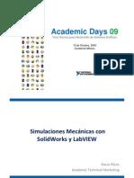 Simulaciones Mecanicas Con Solid Works y LabVIEW