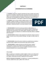 CAPITULO I Apuntes de Ecomomia