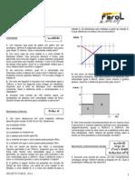 Ficha de Física - Projeto Farol - Aula 1 - 2011