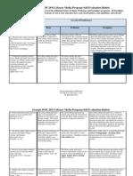 2010 Library Media Prgogram Self-Evaluation Rubric