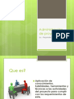 Administración de proyectos(1)