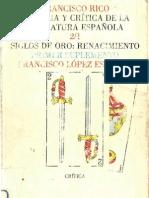 rico, francisco - historia y crítica de la literatura española - tomo ii-1 (siglos de oro, renacimiento)