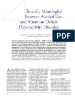 Adhd and Alcohol Use