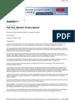 Discurso de Obama- Obamas Victory Speech