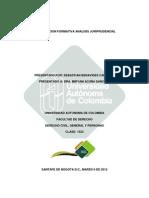 Investigacion Formativa Analisis Juriprudencial