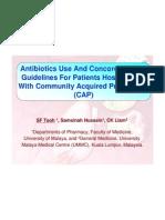 Antibiotics Use and Concordance To