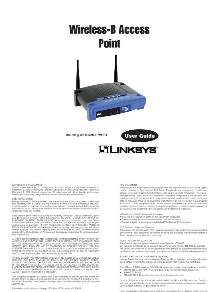 linksys wap11 software download
