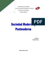 Sociedad Moderna y Posmoderna