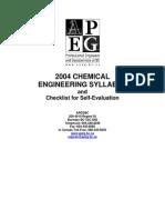 Syllabus Chemical