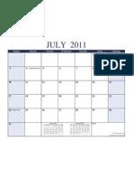 2011 2012 Academic Calendar Landscape