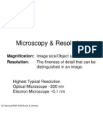 Microscopy & Resolution