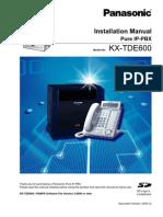 KXTDE Installation Manual-600