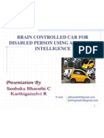 Brain Controlled Car for Disabled Using Artificial Intelligence