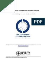 Cochrane Steroids in Meningitis