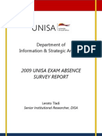 DISA Exam Absence Report 2009