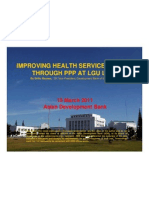 Improving Health Service Delivery through PPP