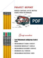 Project Report Dc Motor Control [Compatibility Mode]