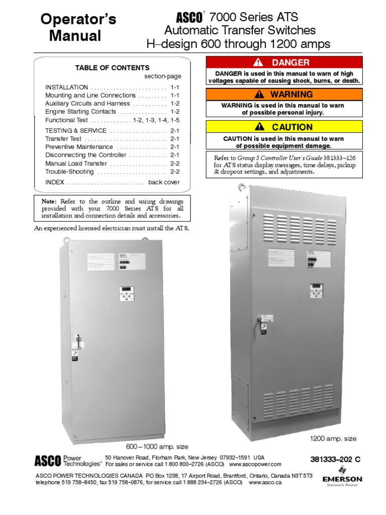 Asco 7000 Transfer Switch Wiring Just Another Wiring Diagram Blog