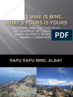 Community-based Property Rights as Applied to the Mining