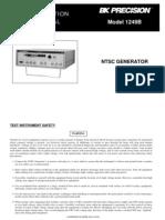 Test Equiment Shop.com Vido Cable Color NTSC Generator TES1249B Manual
