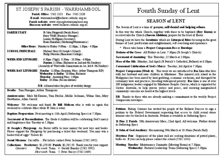 4th Sunday in Lent | Lent | Mass (Liturgy)