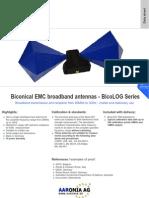 Testequipmentshop.com Aaronia AG Antennas and Sensors TES BicoLOG Datasheet