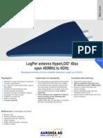 Testequipmentshop.com Aaronia AG Antennas and Sensors TES HyperLog 40xx Datasheet