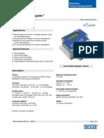 Testequipmentshop.com Air2Guide Air Flow Meter TES A2G 25 Data Sheet