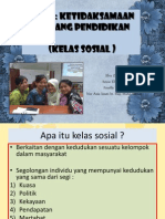 Ketidaksamaan Peluang Pendidikan (Kelas Sosial)