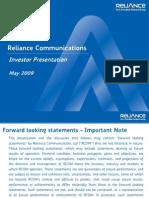 RCOM Investor Ppt May09