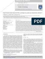 Experimental Study of Pleated Fabric Cartridges in a Pulse-j