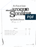 Baroque Sonatas for Flute and Guitar