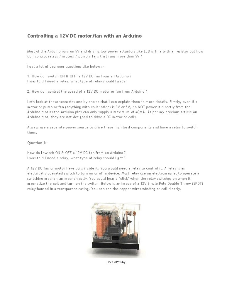 Avr Based 12v Dc Motor Control Relay Switch Dpdt Datasheet Pdf