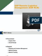 PETRONAS Remote Logistics Management Detail Overview