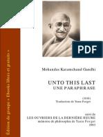 Gandhi Unto This Last