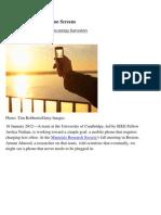 Solar Cells in Smart Phone Screens