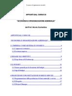 Appunti Di Economia Ed Organizzazione Aziendale 03.04