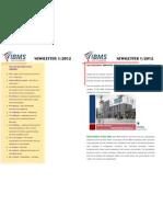 IBMS Newsletter 1-2012