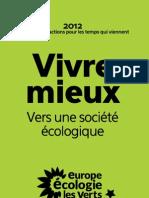 Le projet 2012 des écologistes