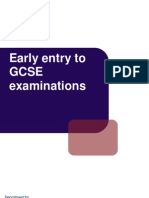 Early Entries GCSEs